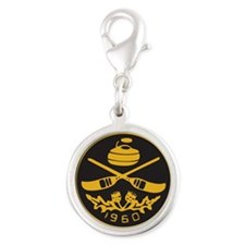 pcc_seal copy_black_on_gold Silver Round Charm