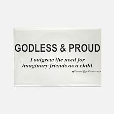 Godless & Proud Rectangle Magnet