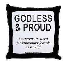 Godless & Proud Throw Pillow