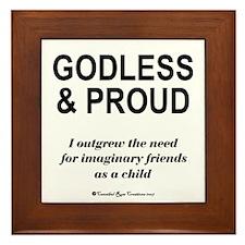 Godless & Proud Framed Tile