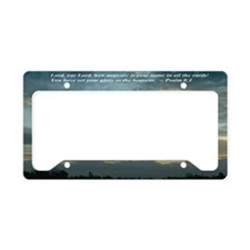 CloudsWithSaying_SmallFrame License Plate Holder