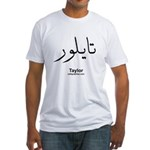 Taylor Arabic Calligraphy Fitted T-Shirt