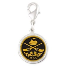 pcc_seal copy_black_on_gold_bl Silver Round Charm