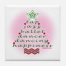 Dancers Christmas Tree by DanceShirts Tile Coaster