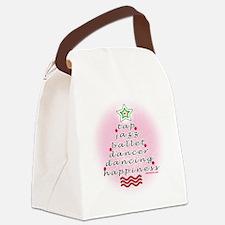 Dancers Christmas Tree by DanceSh Canvas Lunch Bag