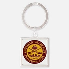 pcc_seal_gold_on_crimson_bleed Square Keychain