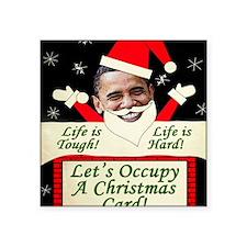 "occupywallstreet Square Sticker 3"" x 3"""