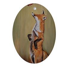 fox-alongreach Oval Ornament