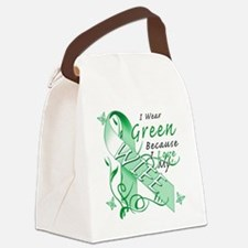 I Wear Green Because I Love My Wi Canvas Lunch Bag