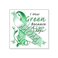 "I Wear Green Because I Love Square Sticker 3"" x 3"""