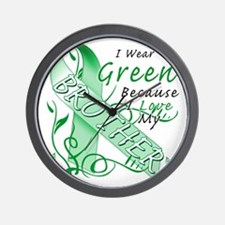 I Wear Green Because I Love My Brother Wall Clock