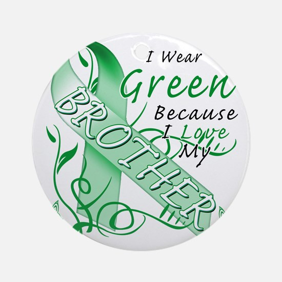 I Wear Green Because I Love My Brot Round Ornament
