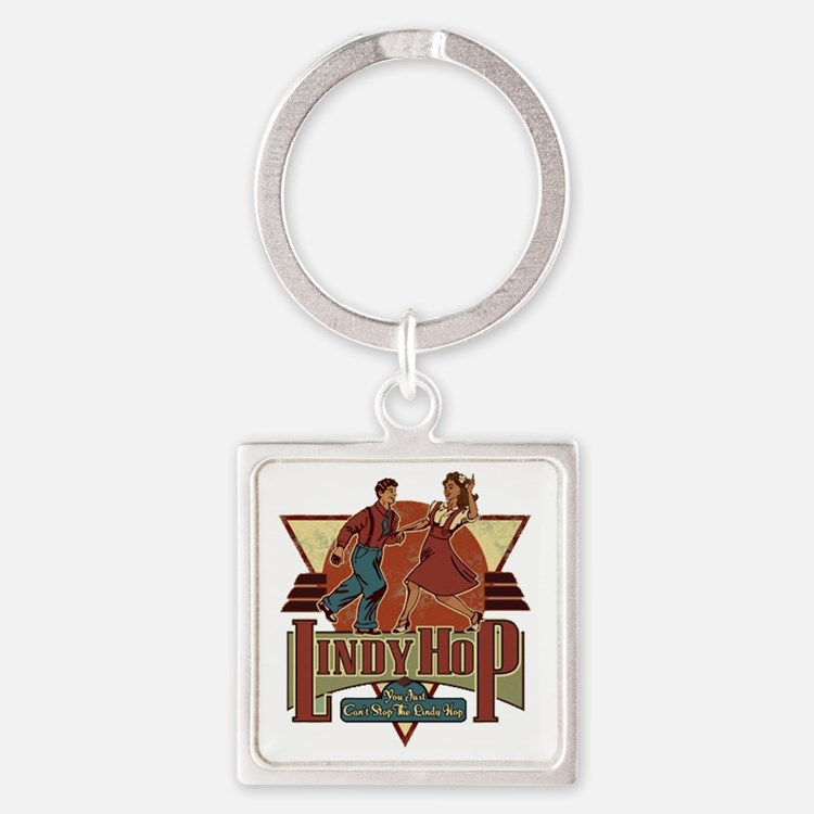 You Cant Stop The Lindy Hop Square Keychain