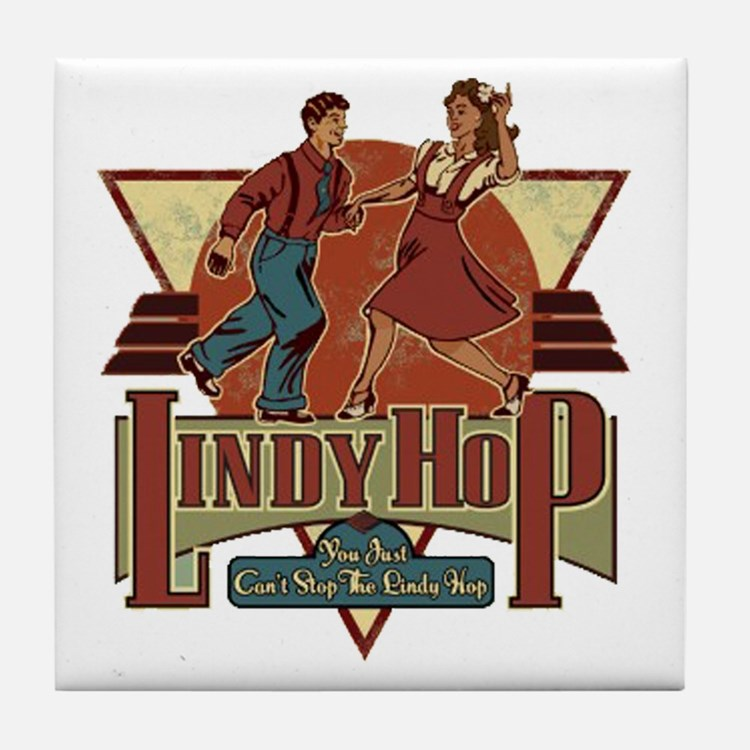 You Cant Stop The Lindy Hop Tile Coaster
