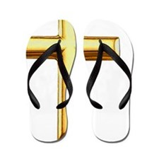 Golden Cross Flip Flops