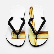 Golden Cross Flip Flops