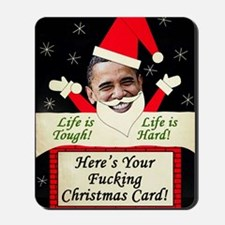 obamafchristmascard2011 Mousepad
