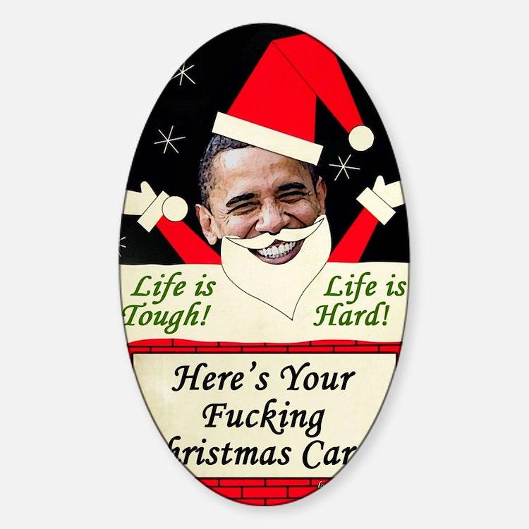 obamafchristmascard2011 Sticker (Oval)