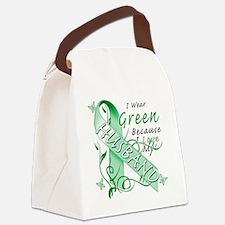 I Wear Green Because I Love My Hu Canvas Lunch Bag