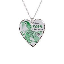 I Wear Green Because I Love M Necklace