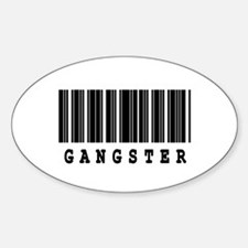 Gangster Barcode Design Oval Decal