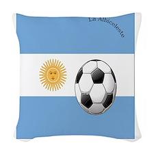 argentina copy Woven Throw Pillow