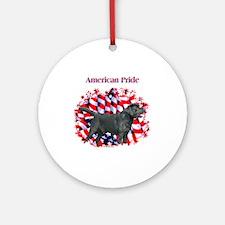 Black Lab Pride Ornament (Round)