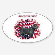 Black Lab Pride Oval Decal