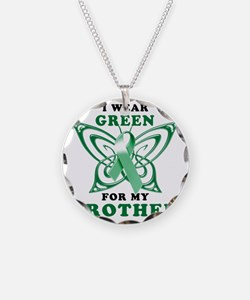 I Wear Green for my Brother Necklace