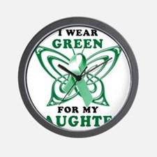 I Wear Green for my Daughter Wall Clock