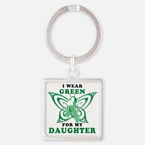 I Wear Green for my Daughter Square Keychain