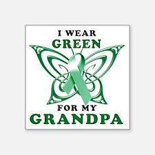 """I Wear Green for my Grandpa Square Sticker 3"""" x 3"""""""
