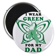 I Wear Green for my Dad Magnet
