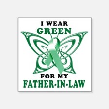 """I Wear Green for my Father  Square Sticker 3"""" x 3"""""""