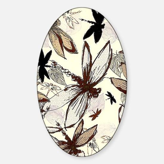 dragonflies Sticker (Oval)