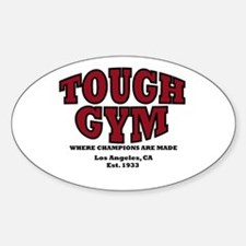 Tough Gym 2 Oval Decal
