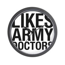 LIKES_ARMY_DOCTORS_CP Wall Clock