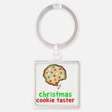 Xmas Cookie Taster Square Keychain