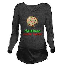 Xmas Cookie Taster Long Sleeve Maternity T-Shirt