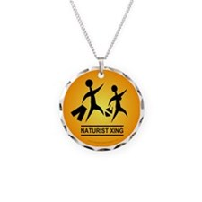Naturist Xing Button Necklace