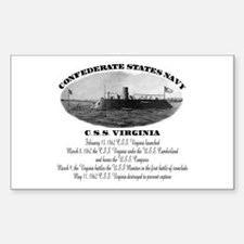 C.S.S. Virginia Rectangle Decal