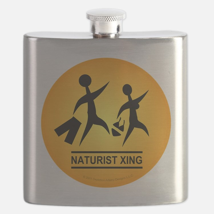 Naturist Xing Button Flask