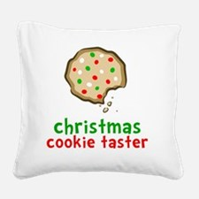 Xmas Cookie Taster Square Canvas Pillow