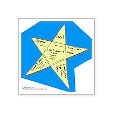 "Shopping Star Square Sticker 3"" x 3"""