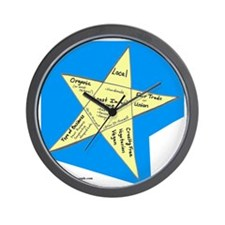 Shopping Star Wall Clock