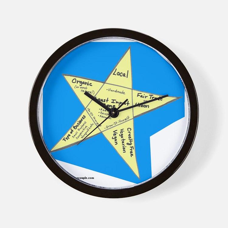 Shopping Star Wall Clock