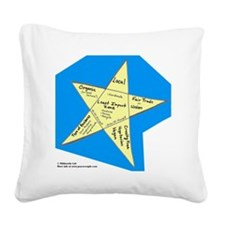 Shopping Star Square Canvas Pillow