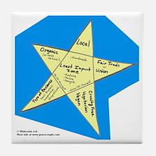 Shopping Star Tile Coaster