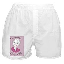 playDumb_button Boxer Shorts