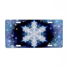 Snowflake Calendar - Januar Aluminum License Plate